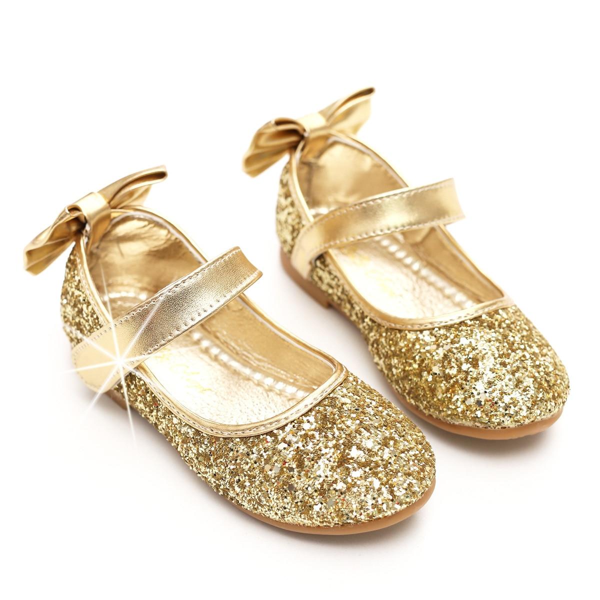 gold little girl dress shoes