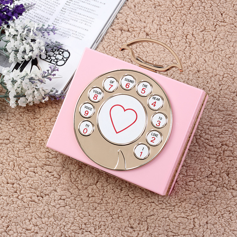 2016 Sale New Arrival Minaudiere Pvc Day Clutches Open Manufacturers Selling High-end Antique Telephone Banquet Dinner Bag Hand
