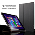 "For Lenovo Thinkpad 10 10.1"" Tablet Luxury PU Leather Case Thinkpad10 Stand Cover Protective Shell"