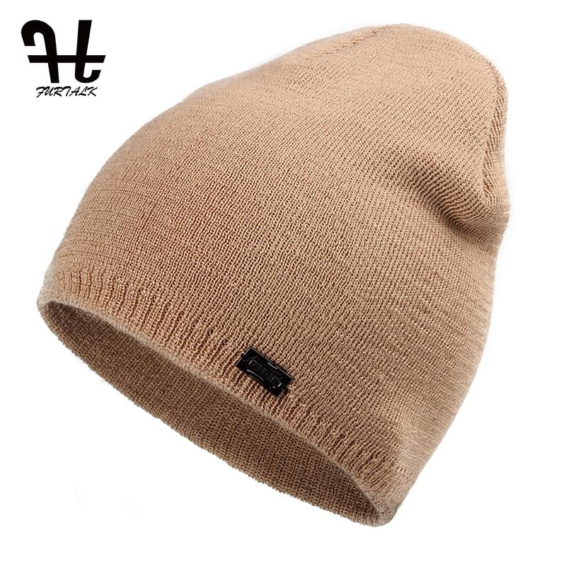 FURTALK Unisex Bahar Sonbahar Şapka İzle Kap Kadın Yün Örgü - Elbise aksesuarları - Fotoğraf 4