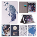 Case for iPad Air 2 Cute Patterns Flip PU Wallet Cover for iPad Air 2 iPad 6 with Card Holders Slim Thin Tablet Stand Case 9.7""