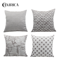 CANIRICA 4pcs/Set Cushions Covers Home Decor 45*45 Pillowcases Decorative Pillow Cover Geometric Fundas Cojine For Living Room