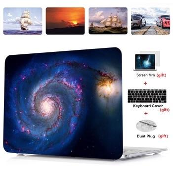 Impresión de carcasa rígida para ordenador portátil + cubierta para Teclado + película de pantalla + tapón antipolvo para Apple MacBook Air Pro Retina barra táctil 11 12 13 15 pulgadas