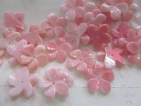20pcs 15mm high quality Genuine Pink Queen Conch Shell ,Pearl Shell Rose flower fluorial point Cup Crown Hand Carved loose beads