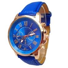 Women watch woman lady girl brand Stylish Numerals Faux Leather Analog Quartz Wrist Watch wholesale free shipping A20