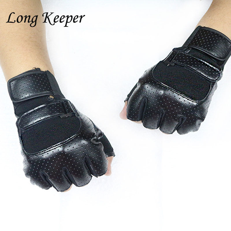 New Men Women Outdoor Sports Half Finger Gloves for Running Bicycle Riding Wrist Extension Weightlifting Training Gym Fingerless