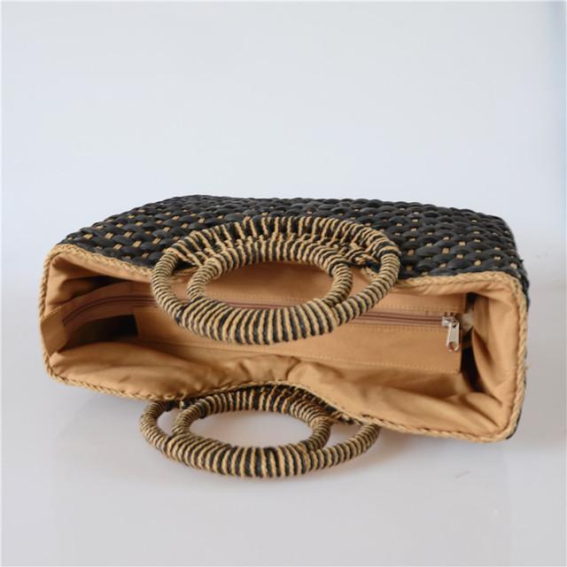 Thai Hand-Woven Straw Handbag