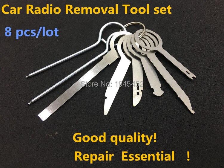 8 Pcs Radio Removal Tool Keys for Volkswagen / for Audi, Car