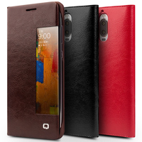 QIALINO Luxury Sleep Wake Function Case for Huawei Ascend Mate9 pro Genuine Leather Flip Cover for Huawei Mate9 pro Smart Case