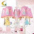 Crianças quarto lustres Led quarto iluminação lustre Nordic Americano princesa dos desenhos animados da princesa menina rosa casa