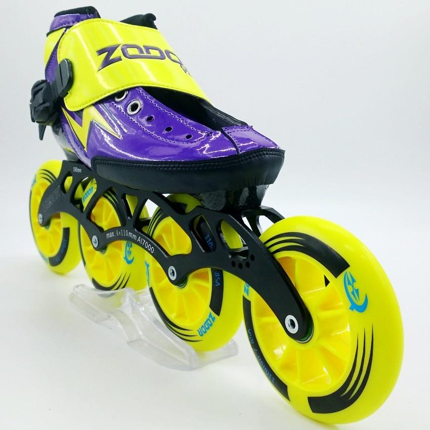 ZODOR inlineskateschoenen Professionele volwassen kindschaatsen schaatsen shoes4 * 110mm skating wheels