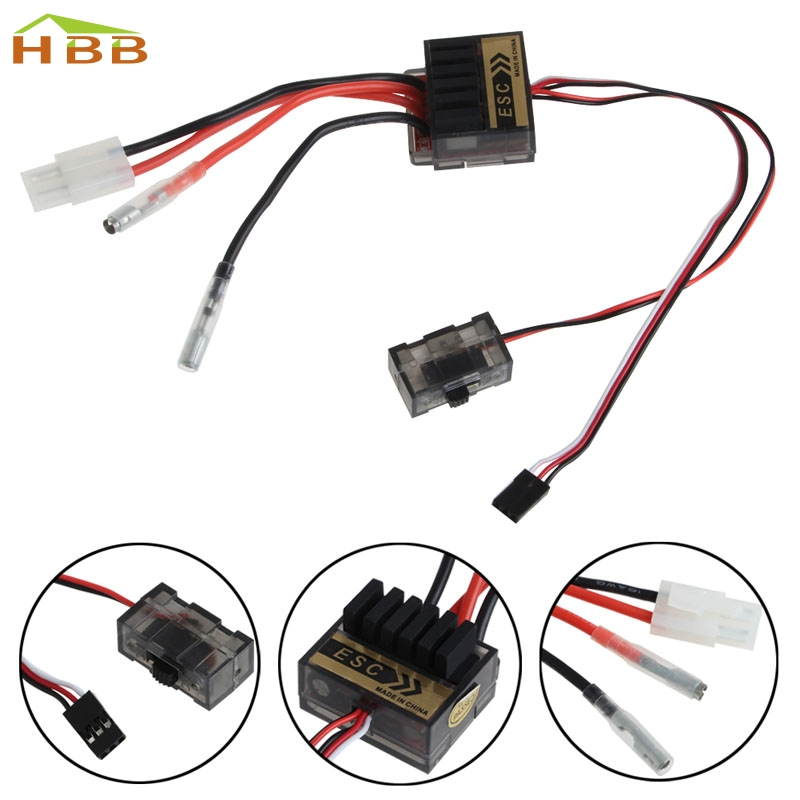 1Pc 320A Brush Speed Controller ESC 1/8 1/10 1:10 Reverse For RC Car Boat Truck #046 1pcs 320a brushed esc speed controller w reverse for 1 8 1 10 rc flat off road monster truck truck car boat dropship