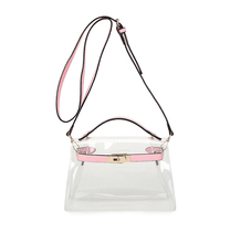 women transparent bag clear beach bag tassel clutch pvc plastic leather day evening purse 2017 new high quality candey color