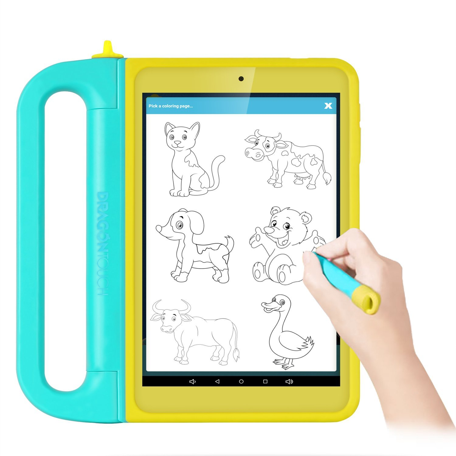 DragonTouch K8 8inch Kids Tablet Kidoz Pre-Installed 2GB RAM 16GB Nand Flash IPS Display Android 6.0 Marshmallow Android Tablet