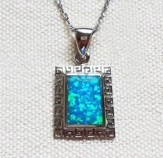 Aliexpress buy cool square blue fire opal pendant for men cool square blue fire opal pendant for men aloadofball Gallery