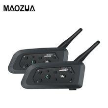 2 шт. R6 мотоциклетный Bluetooth шлем гарнитуры домофон Громкая связь для 6 гонщиков BT беспроводной intercomunicador переговорные MP3