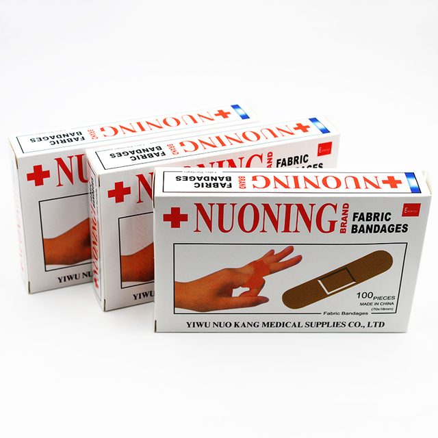 100PCS/Box New 2019 Band Aid Wound Dressings Sterile Hemostasis Stickers First Aid Bandage Heel Cushion Adhesive Plaster