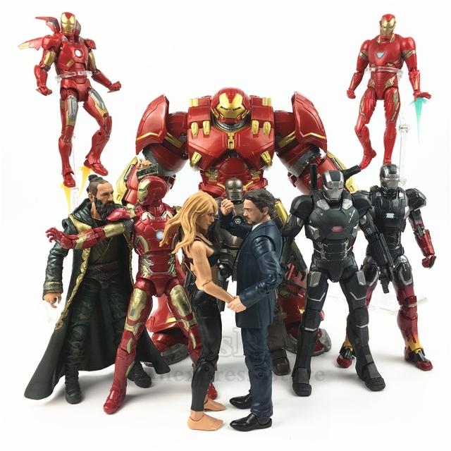 Marvel Legends 6″ Iron Man Action Figure Tony Stark 10th Anniversa Pepper Potts Mark XXII Mandarin MK1 MK50 Hulkbuster Studios