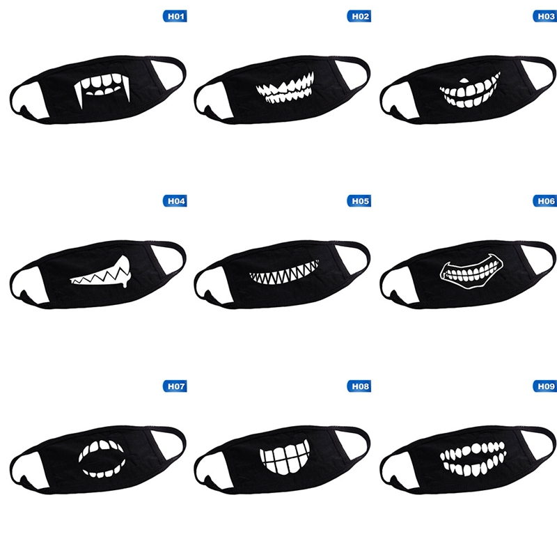 12 Styles Face Mouth Mask Unisex Camouflage Mouth-muffle Unisex Respirator Stop Air Pollution Cartoon Lovely Cotton Mask