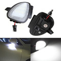 2 x Error Free 6 LED White Car Under Side Mirror Puddle Lamp Internal Light Bulbs for VW Golf6 GTI Golf Cabriolet Touran