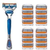 1 halter + N Rasierklinge Männer Rasierer Rasierklingen 5-schicht Rasierklingen für Gesicht Pflege Kompatibel mit Gillettee Fusione Rasiermesser