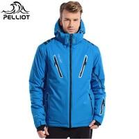 Пелльо Лыжная куртка Для мужчин высокое качество сноуборд куртка Водонепроницаемый ветрозащитный супер теплые лыжные куртки с капюшоном х