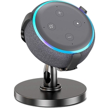Настольный держатель для Echo Dot 3-го поколения, регулируемая подставка на 360 ° для умных домашних динамиков, улучшает видимость звука