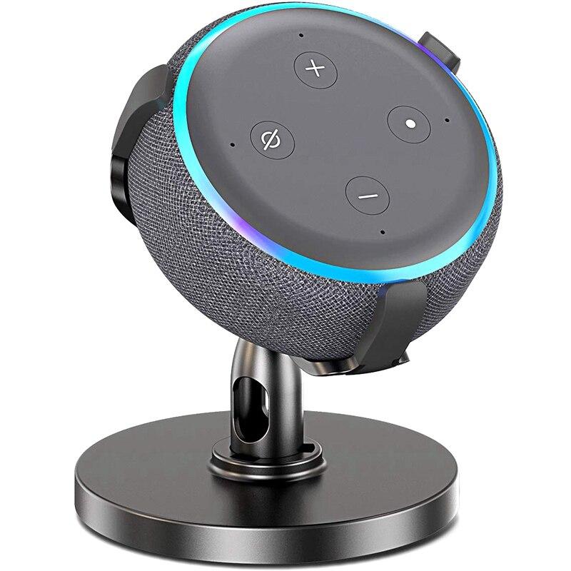 Table Holder For Echo Dot 3Rd Generation, 360° Adjustable Stand Bracket Mount For Smart Home Speaker, Improve Sound Visibility