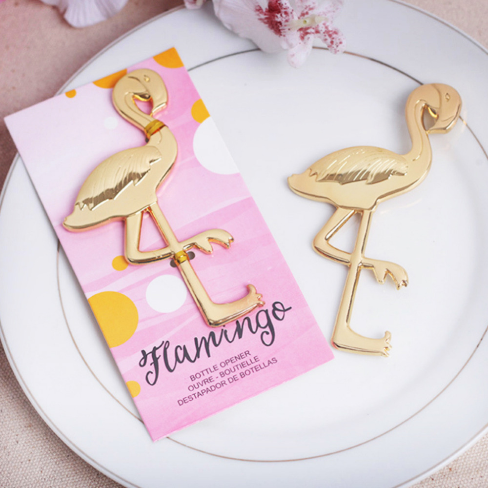 Gold Alloy Flamingo Beer Wine Bottle Opener Best Party Anniversary ...