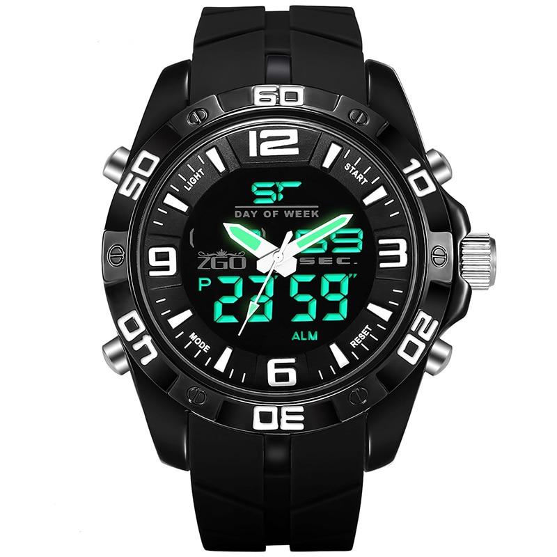 Zgo Men Chronograph Watch Men Sport Watch Quartz-Watch Waterproof Clock Date Men's Wrist Watch relogio masculino