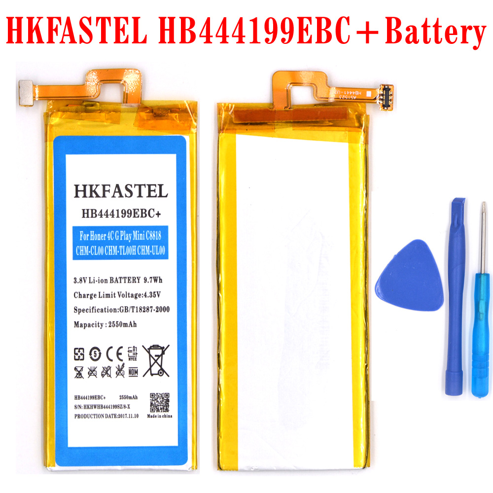 HKFASTEL HB444199EBC+ original Mobile phone battery For Huawei Honor 4C C8818 CHM- CL00 CHM-TL00H CHM-UL00 G Play Mini
