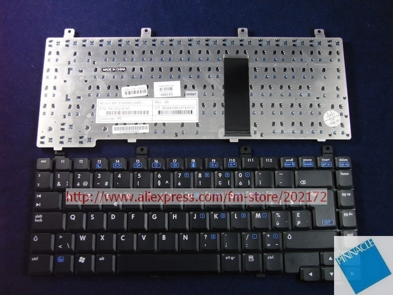 Brand New Black Laptop  Notebook Keyboard 393568-A41 PK13ZLI4100  For HP Compaq  nx6115   nx6125 series (Europe 4) brand new black laptop notebook keyboard 344390 bb1 349181 bb1 for hp compaq nx5000 nx9040 series hebrew