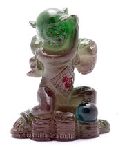 Green Monkey,Lucky Charms,Chinese zodiac,Shenxiao,Allochroic Mascot,fengshui Ornament,novel gifts,best present,Tea pet,S1015AH(China)