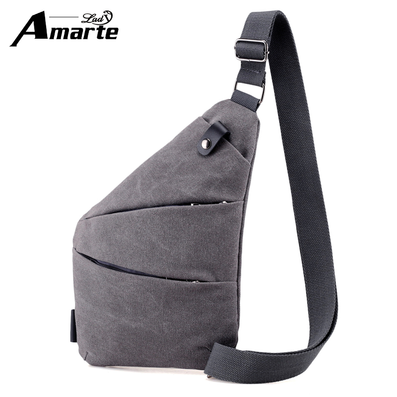 Amarte Men Sling Bags Messenger Crossbody Chest Bag Anti-theft Design Pack Casual Bag Single Unisex Women Shoulder Strap Pack