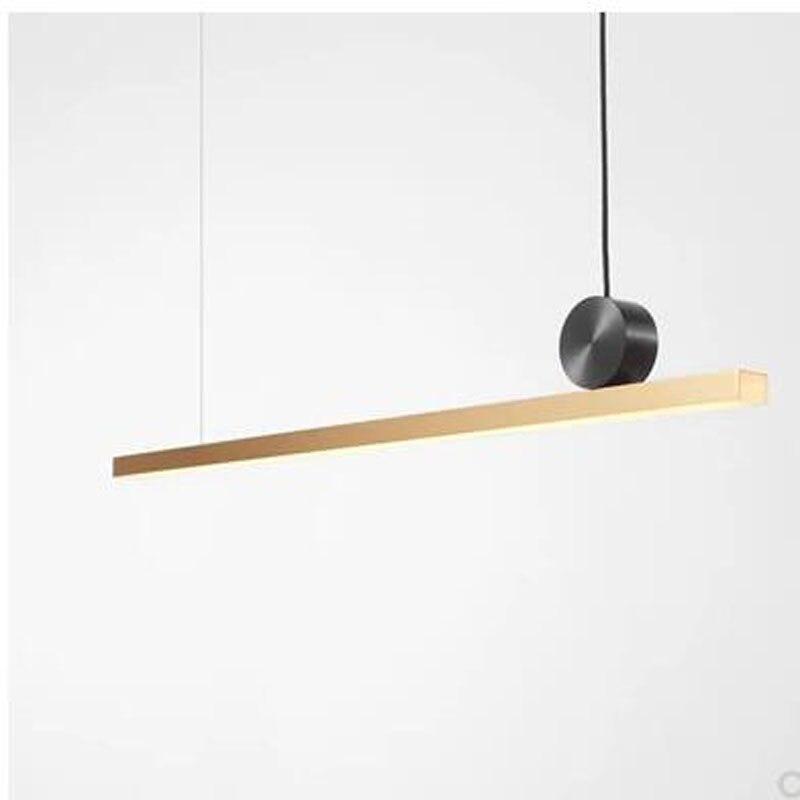 Modern minimalist LED office strip chandelier creative personality line lamp front desk study Internet cafe bar lamp led light