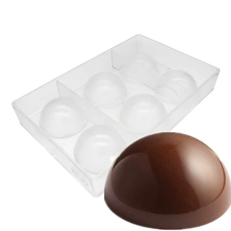 6 Cups Large Half Ball Chocolate Mold 8cm Ball Polycarbonate Mould Chocolate Ball Mold Tray