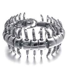 Centipede Men Bracelet Stainless Steel Cuff Bracelets Bangles Men Jewelry Accessories Cool Punk Best Friends