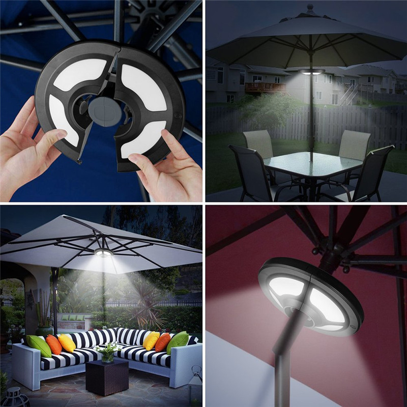 Us 25 93 53 Off Outdoor Solar Umbrella Lights Patio Umbrella Pole Solar Lamp 36 Led 2modes Camping Tent Lamp For Coffee Beach Lighting On