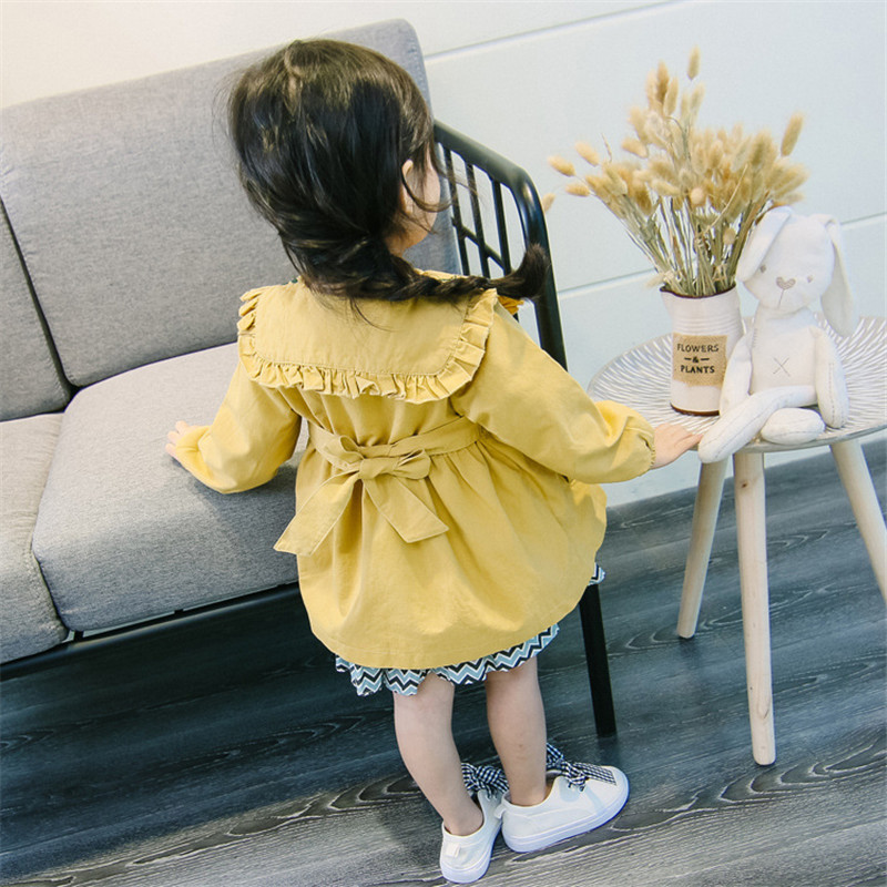 Girls Trench jacket Coat Spring 2019 Children Clothing Kids Blazer Jackets Baby Clothes For girl Fashion Infant Toddler Outwear in Jackets Coats from Mother Kids