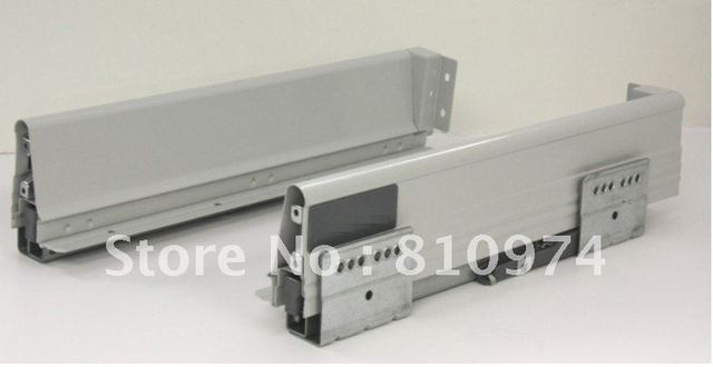 FREE SHIPPING 1 set Double Steel Wall Soft Close Drawer Slide 18-inch Low side plate