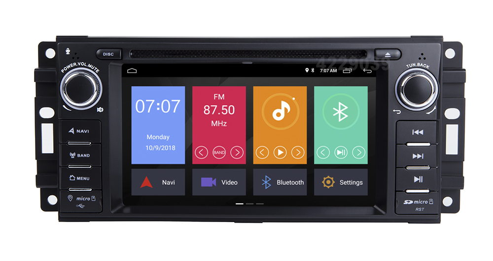 Best Android 8.1 Car DVD Player for JEEP COMMANDER/GRAND CHEROKEE  with Radio WiFi 9