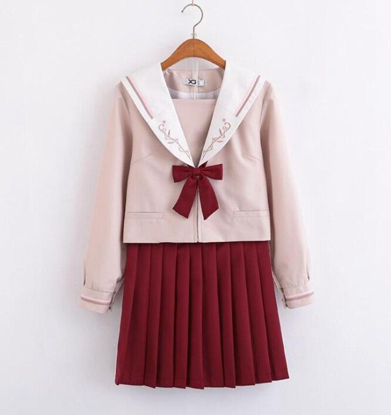 Uniforme japonais orthodoxe JK filles Preppy collège étudiant ensemble de costume de marin