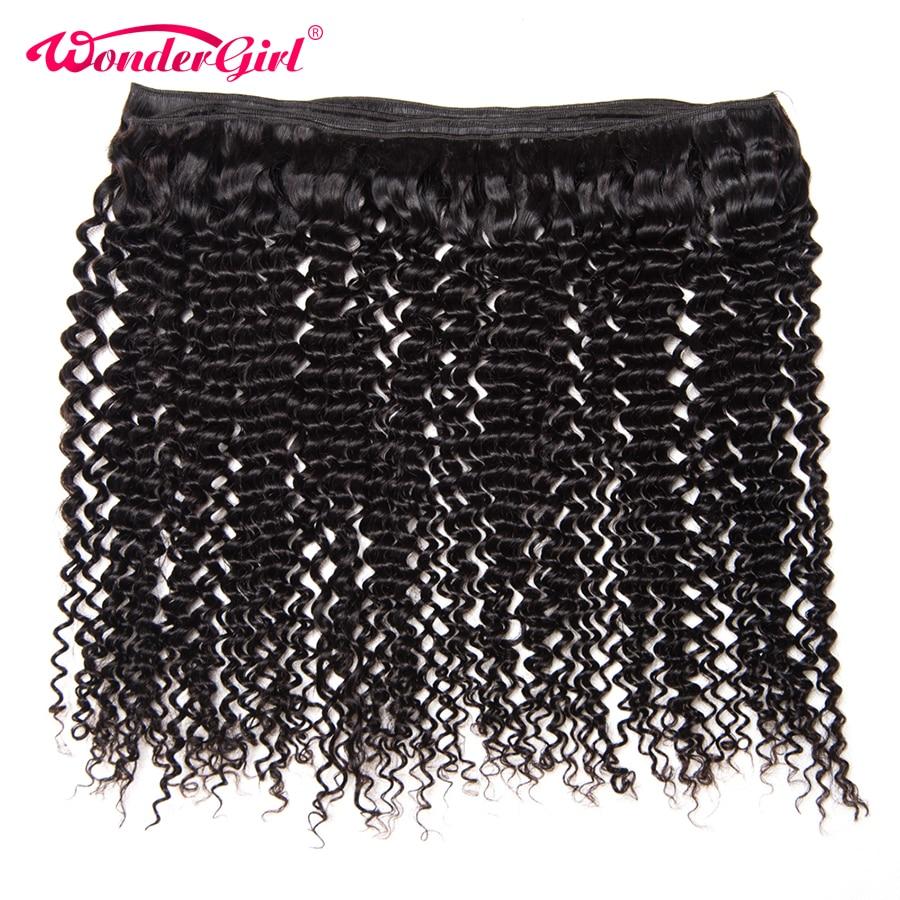 Wonder meisje haarverlenging peruaanse kinky krullend haar bundels - Mensenhaar (voor zwart) - Foto 6