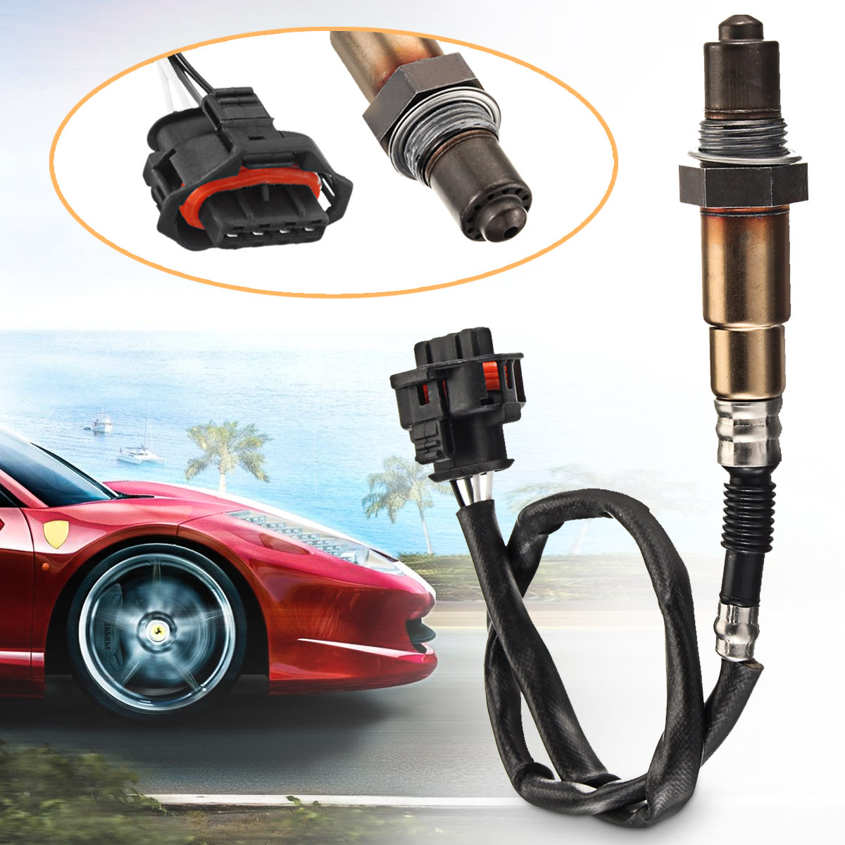 4 Wires Lambda Probe Connector O2 Oxygen Sensor 55555625 Wideband Oxygen Sensor For 06-16 Opel Corsa C D 1.0 1.2 1.4 Front Rear