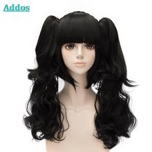Cute Black Brown Lolita Wig With Ponytails HOT SALE Cosplay Wigs With Discount Price