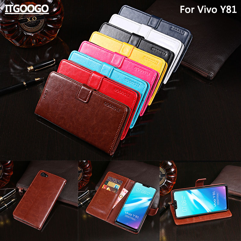 Vivo Y81 Case Cover Luxury Leather Flip Case For Vivo Y83 Protective Phone Case Back Cover Wallet Case