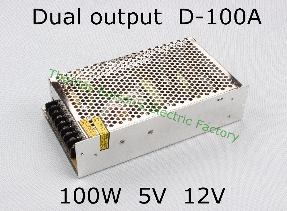 dual output power supply 100w <font><b>5V</b></font> 10A, <font><b>12V</b></font> <font><b>4A</b></font> power suply D-100A ac <font><b>dc</b></font> <font><b>converter</b></font> good quality image