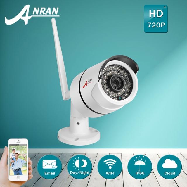 ANRAN IP66 Waterproof Outdoor Bullet IP Camera Wifi 720P HD Video Surveillance Infrared Night Vision Wireless Security Camera