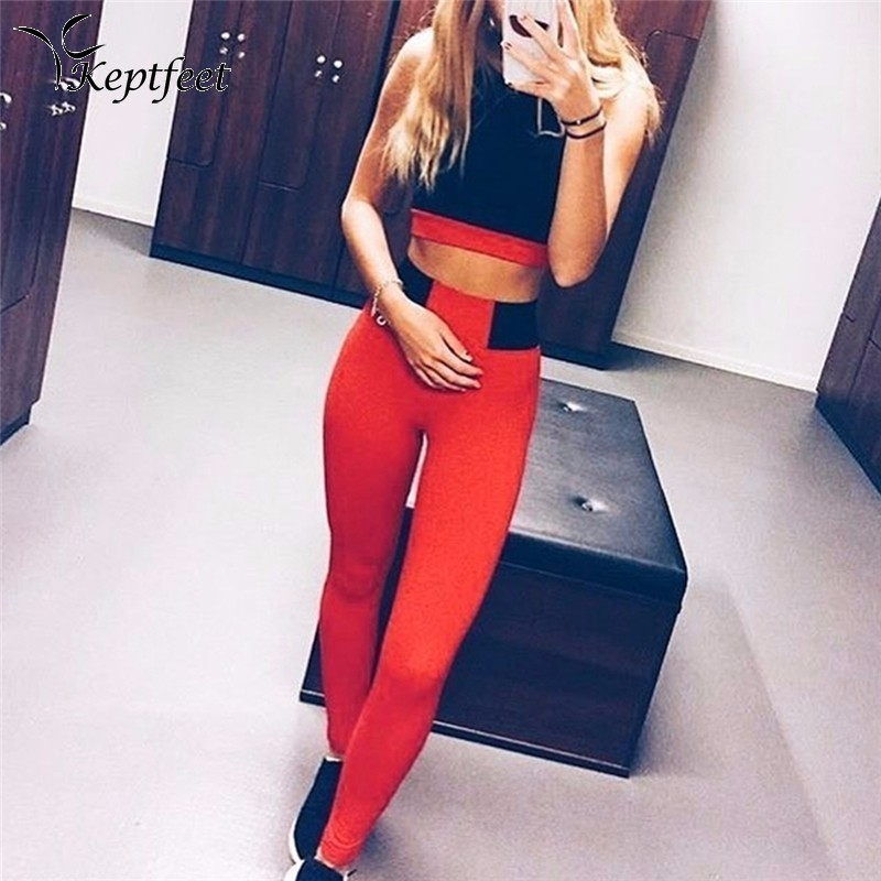 Hot Sales! New Push-up Leggings Summer Women Skinny Elastic Patchwork Sporting Leggings Yoga Pants Fitness Clothing