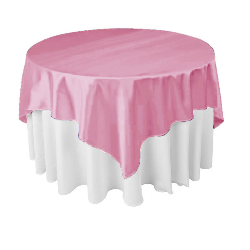 Hot Sale 120inch Pink 10pcs Satin round table cover for weddings parties hotels restaurant Free Shipping Marious
